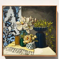 Sam Michelle 'Magnolias, Peonies & Ivy'