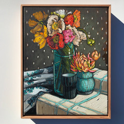 'Poppies & Getty Ceramics' 47x37cm