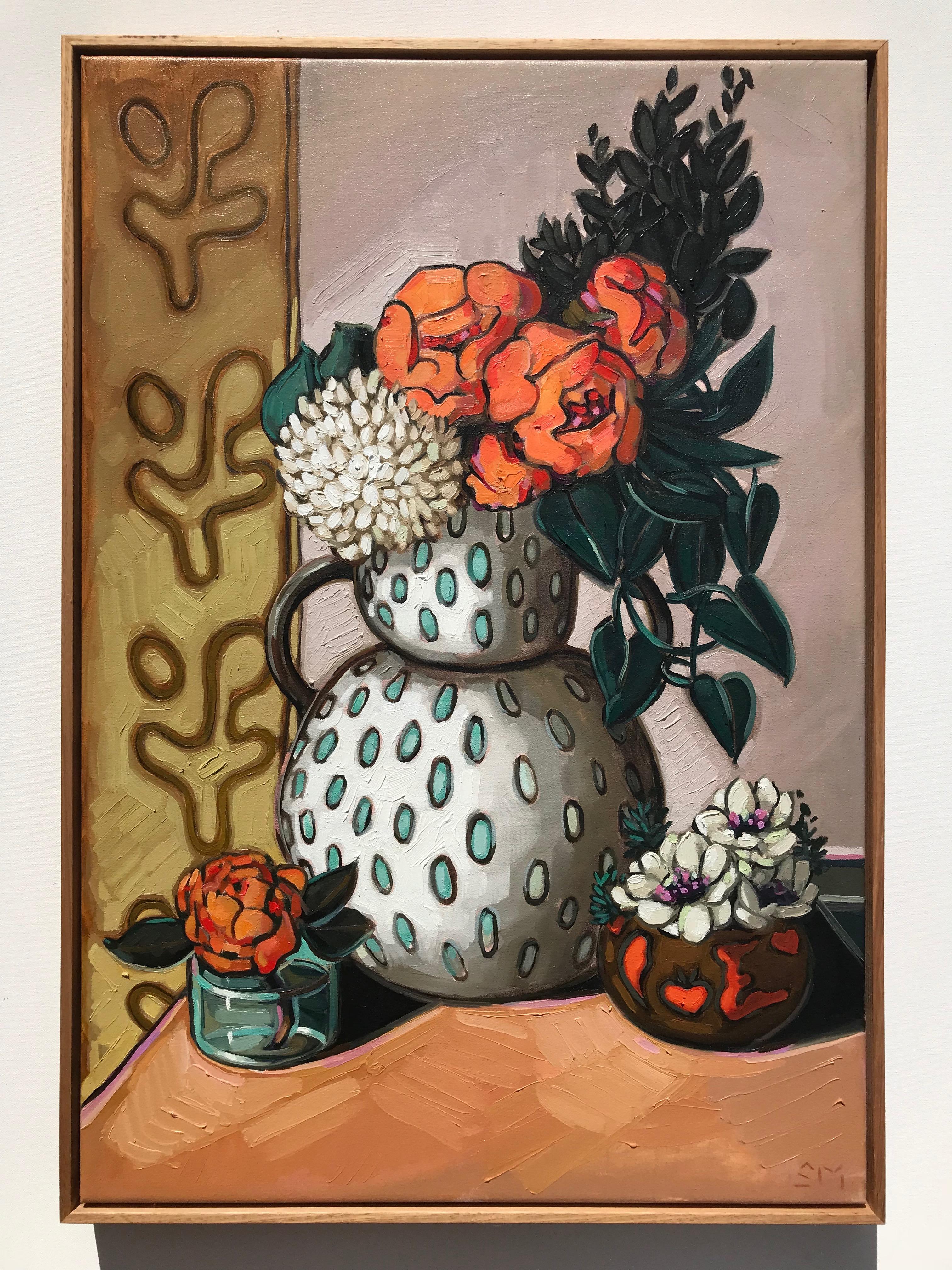 Sam Michelle 'Coral Peonies & Hydrangea'