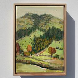 sam michelle 'hills & trees' 38x28cm 201