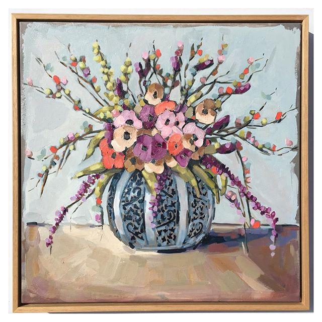 Instagram - 'Blue Vase' (Sold) #bluevase #oilpainting #art #springblooms