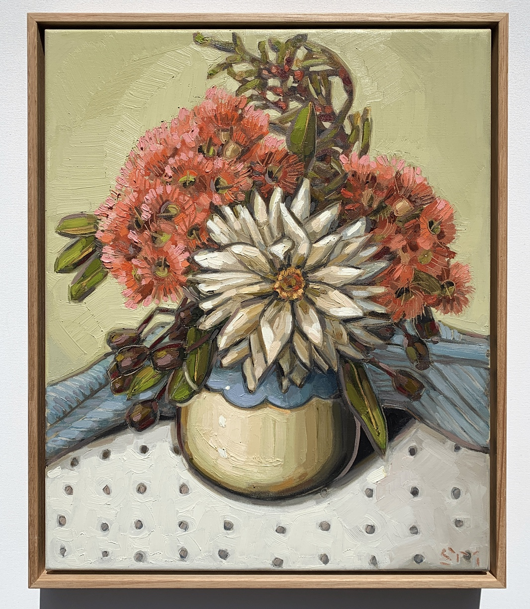 sam michelle 'dahlia & blossoms' 48x40cm