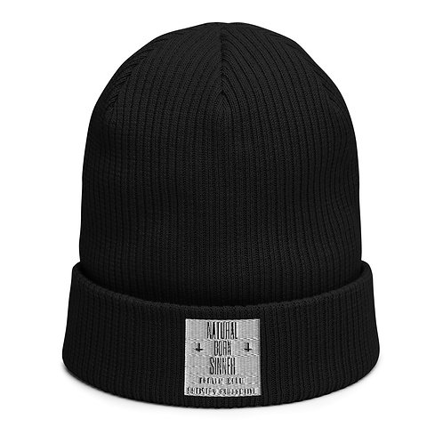 NBSAC ORIGINAL PATCH Organic ribbed beanie