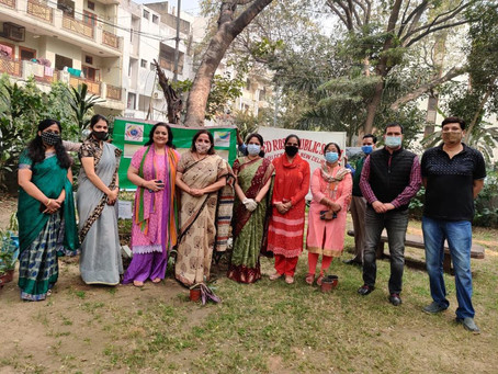 Tree plantation drive was conducted by Eco club of Red Roses Public Sr School, Saket, Delhi