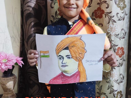 Ramjas School RK Puram Delhi Has Celebrated Swami Vivekanand Jayanti virtually with great zeal...