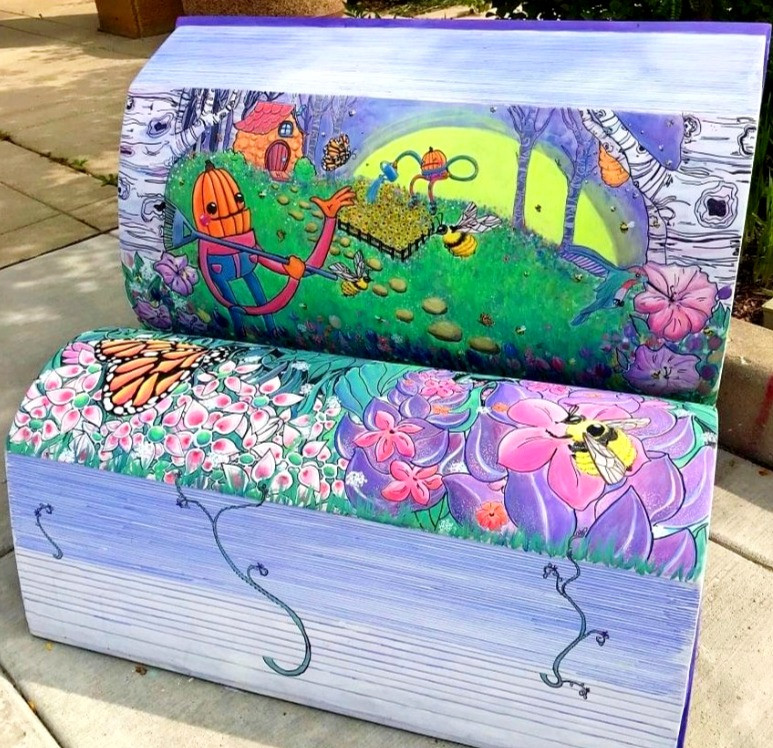 Pumpkin Pals Library Book Bench