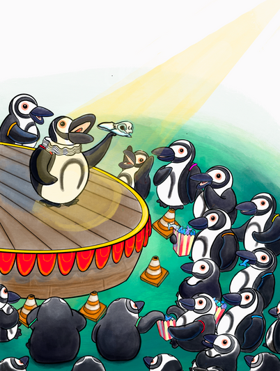 penguins in the park