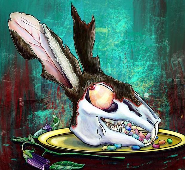 not a very lucky rabbit