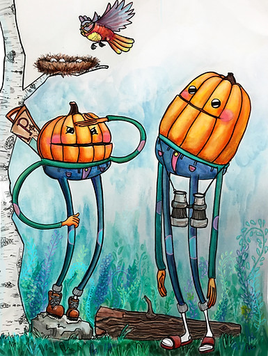 pumpkin pals hiking
