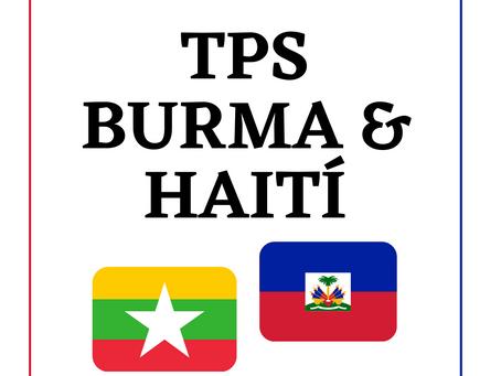 Haiti & Burma Receive TPS Protection