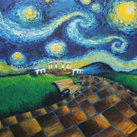 Custom Van Gogh Style Promo Painting