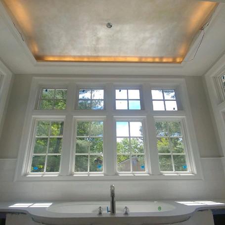 Silver Leaf Bathroom Ceiling