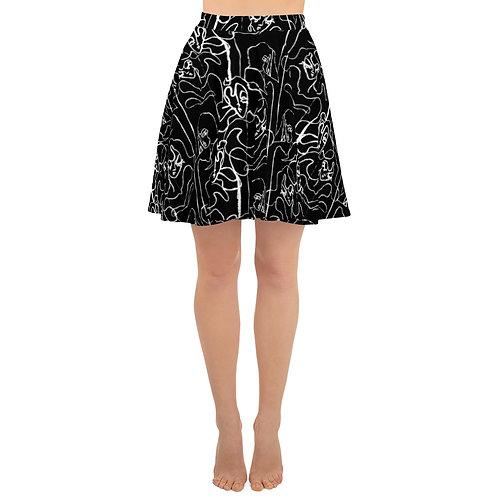 Linear Skater Skirt