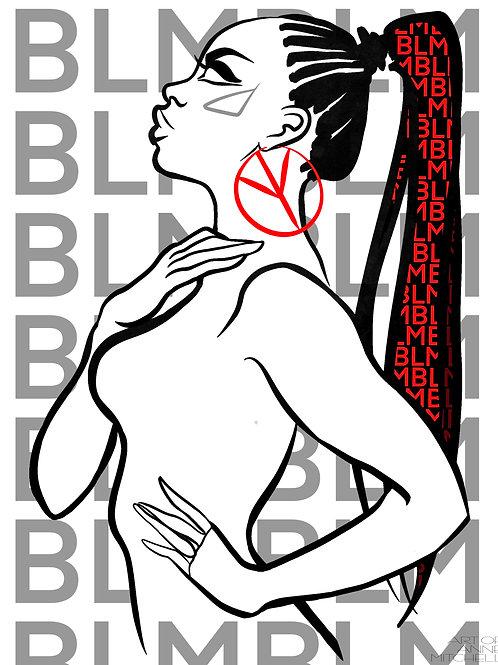 BLM Print 'Peace'