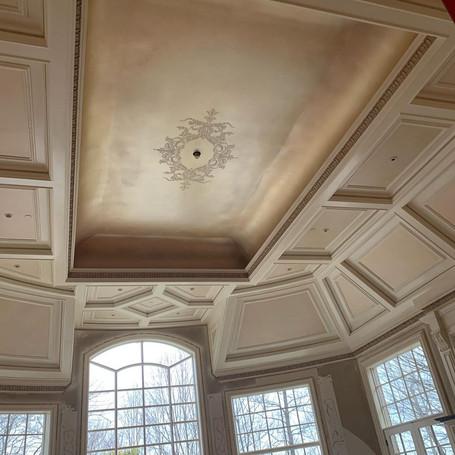 Chandelier Ceiling Medallion Great Room