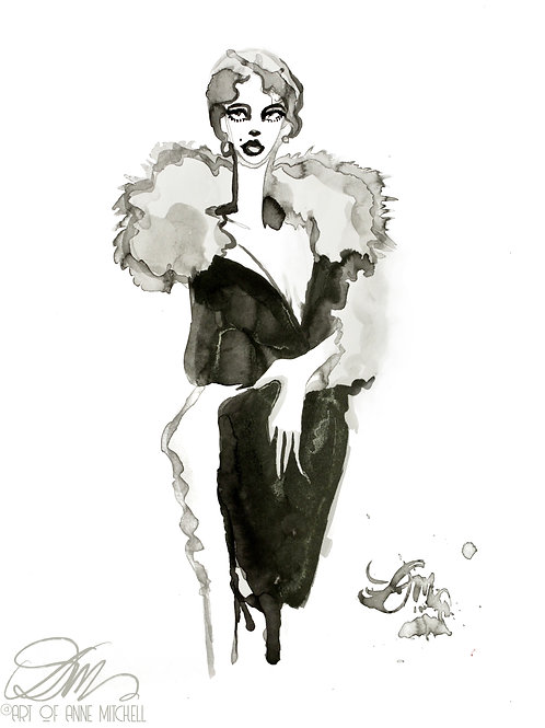 Lilian Marcus in Max Leroy Fourrures, 1956
