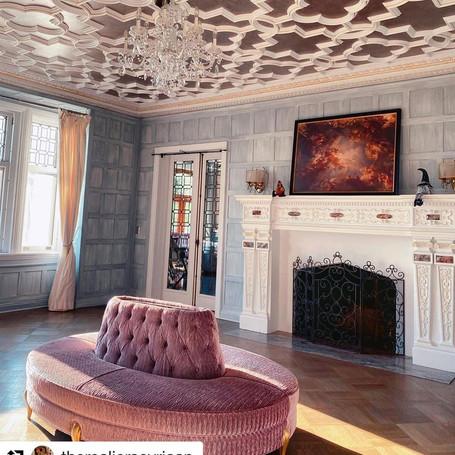 Silver Leaf Ceiling on Vintage Molding