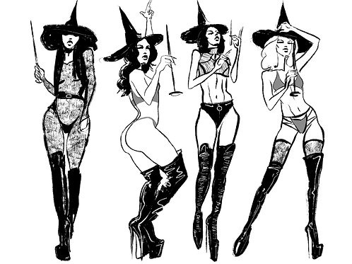 Cyber Clown Girls Witches