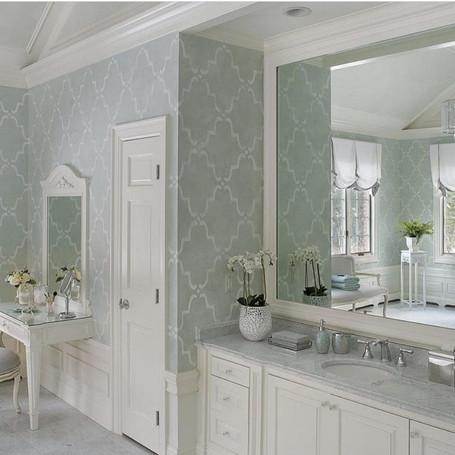Sage Venetian Plaster Bathroom