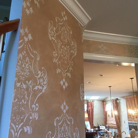 Custom Baroque Lace Dining Room