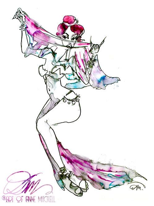 Nightmare Belly Dancer Print
