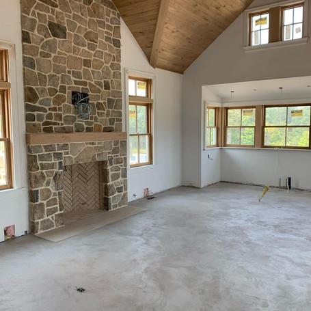 Poolhouse Concrete Indoor Heated Floor