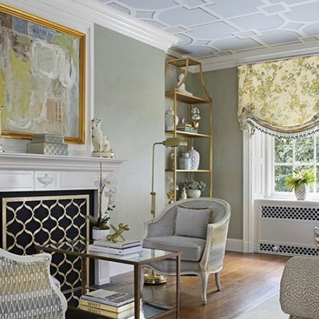 Showhouse Geometric Ceiling Pattern