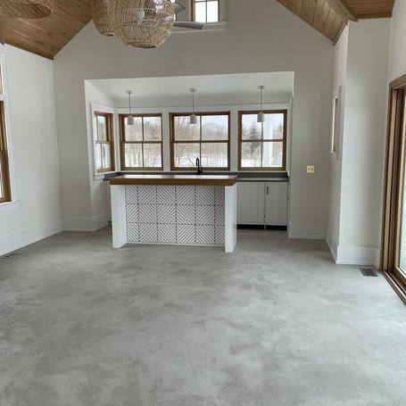 Poolhouse Concrete Floor