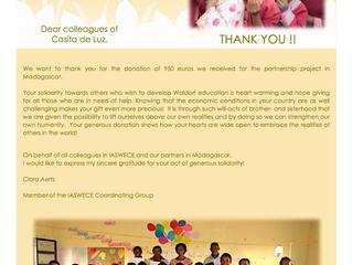 Gracias al amor de muchas personas y niños....Les animamos a todas las escuelas a participar de una