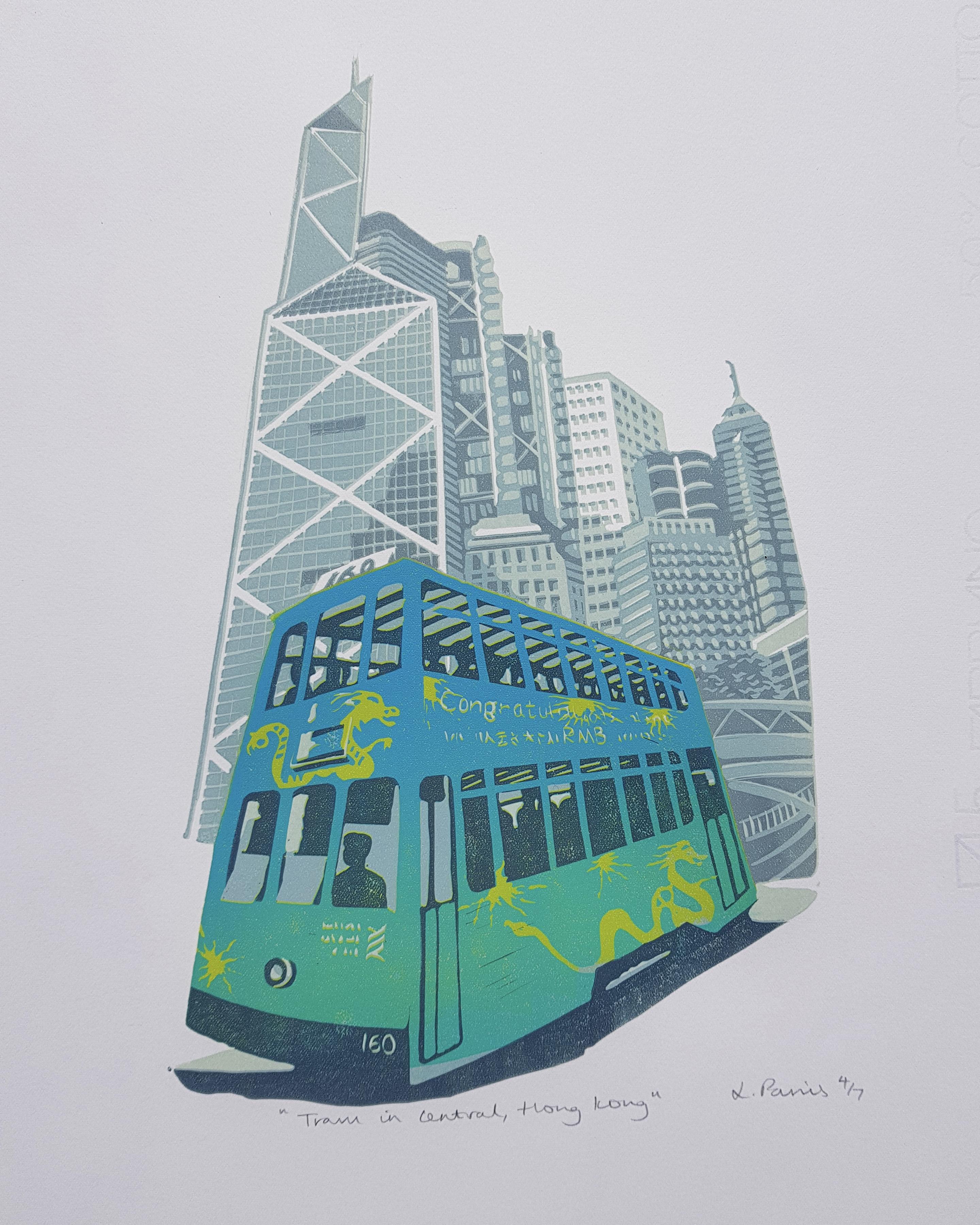 Tram and Bank of China, HK