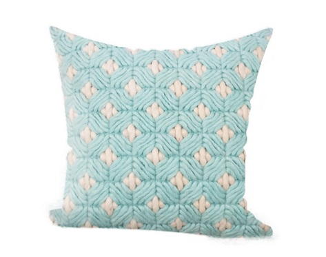 Checkered Blue Cushion