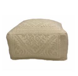 Damask Fabric Pouf