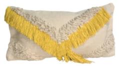 Shaggy V Cushion Yellow