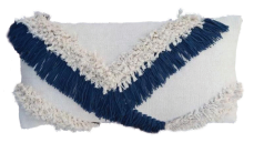 Shaggy V Cushion Navy