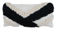 Shaggy V Cushion Black
