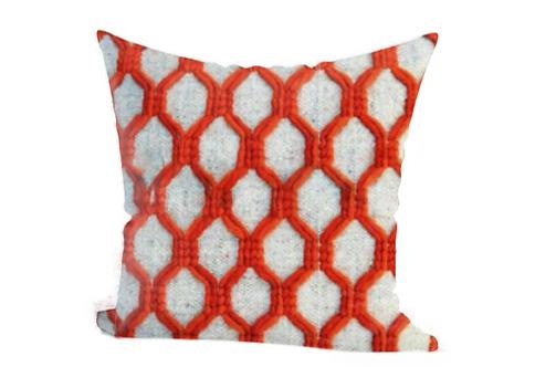 Red Trellis Cushion