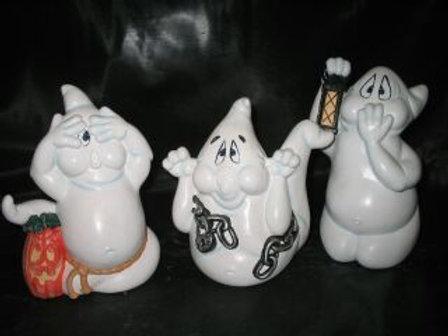 Hear no, See no, Speak no Evil Ghosts