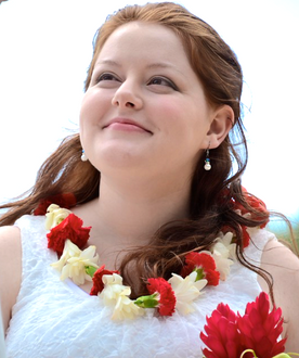 Tuberose and red carnation leis