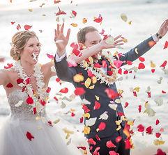 Wedding petal toss Oahu