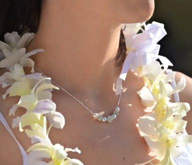 White orchid leis