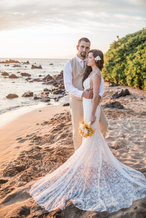 Heather and Connor, Maui Palauea Beach F