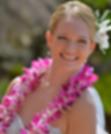 Hawaiian wedding leis of purple orchids