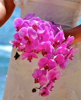 Pink phalaenopsis bridal bouquet