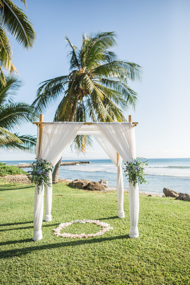 Wedding Arch With Blue Flowers