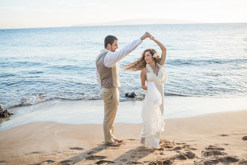 Heather and Connor, Maui Palauea Beach F