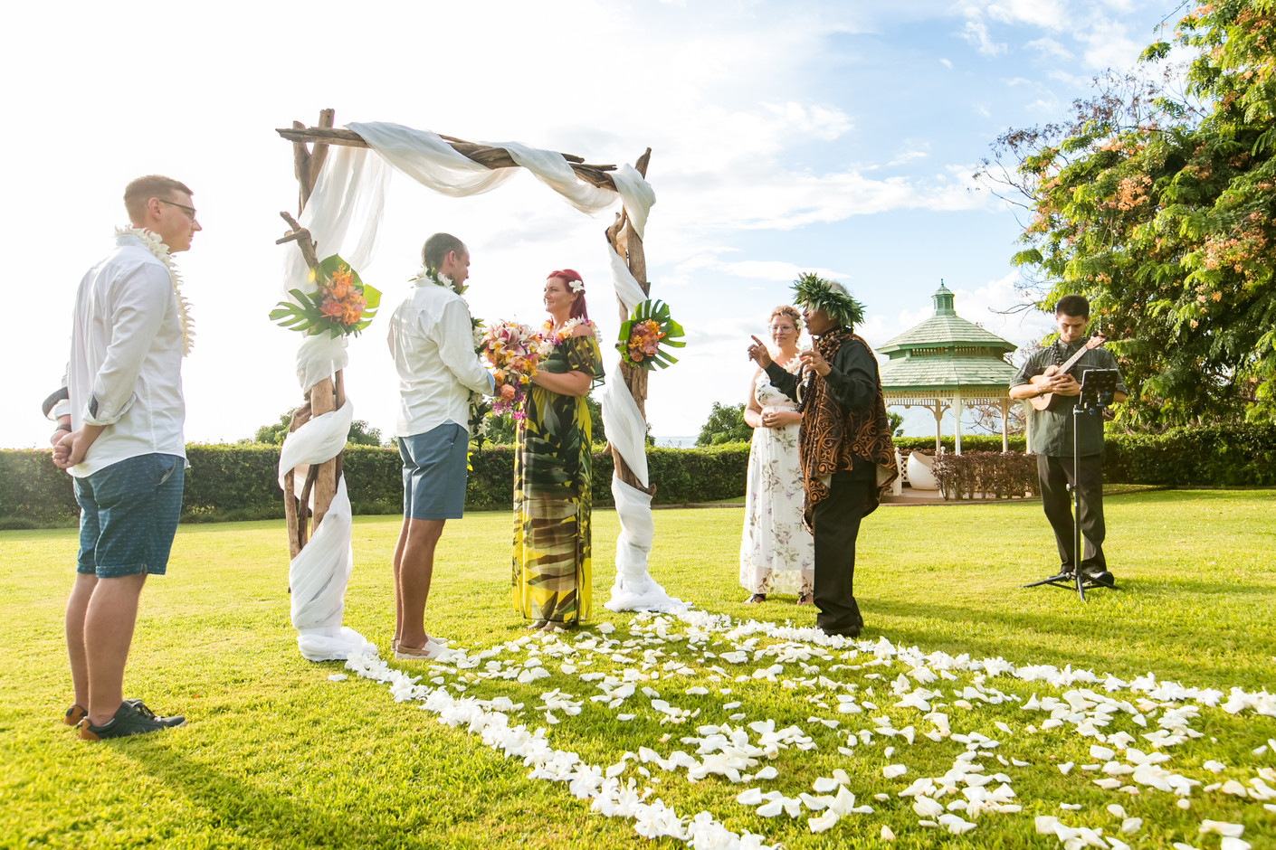 Venue Hotel Wailea Sunset Lawn, arch and