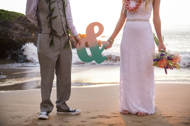 Oahu wedding ceremony on the beach
