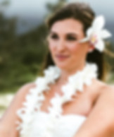 White orchid wedding leis