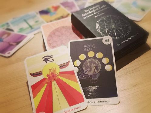 סט: הקלפים האסטרולוגים וספר ריפוי באמצעות התדרים האסטרולוגיים