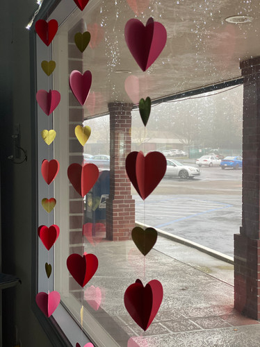 Window decorations for Valentines 2020